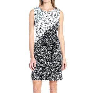 Vince Camuto Speckle Pop Colorblock Dress